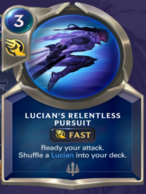 Demacia - Lucian's Relentless Pursuit (champion spell)
