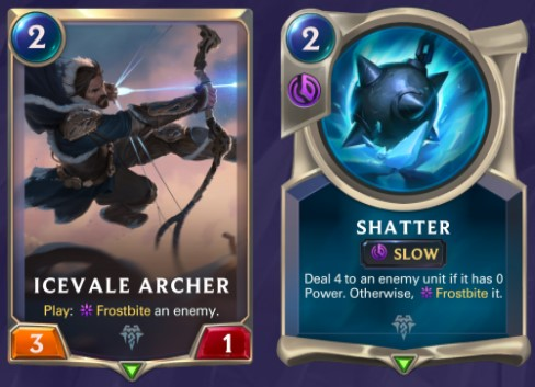 Freljord - Icevale Archer and Shatter
