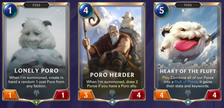 Freljord - Lonely Poro, Poro Herder, Heart of the Fluff