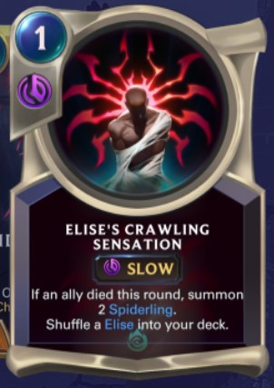 Shadow Isles - Elise's Crawling Sensation (champion spell)