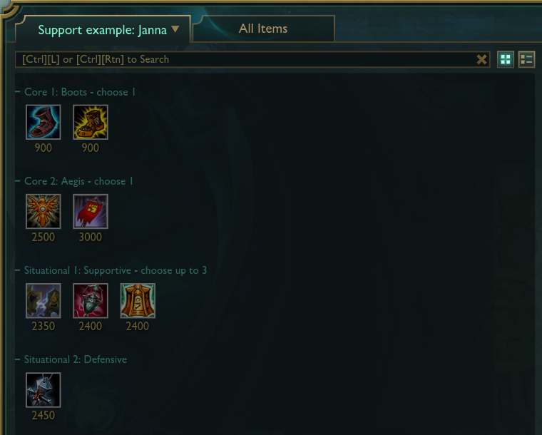 league of legends how to make item sets