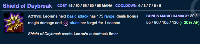 AP scaling on Leona's Q