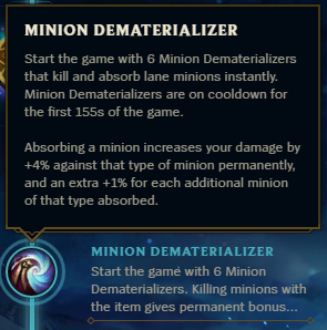 Minion Dematerializer
