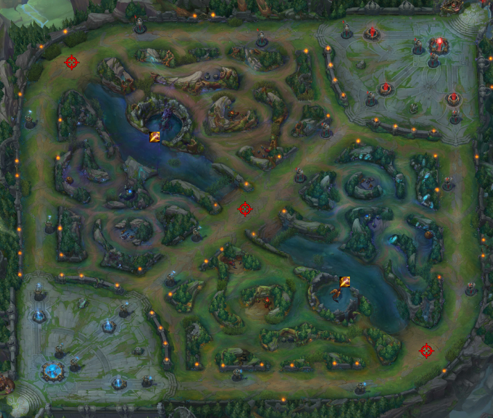 As a Jungler, the Rift whole Rift is your domain. Where you prioritize is ultimately up to you but your action will likely revolve around ganking the lanes and securing objectives.