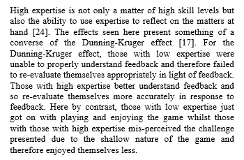 Dunning-Kruger in gaming