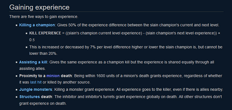 Experience details