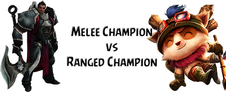Melee vs ranged