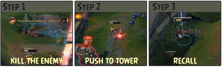 Push to tower recall
