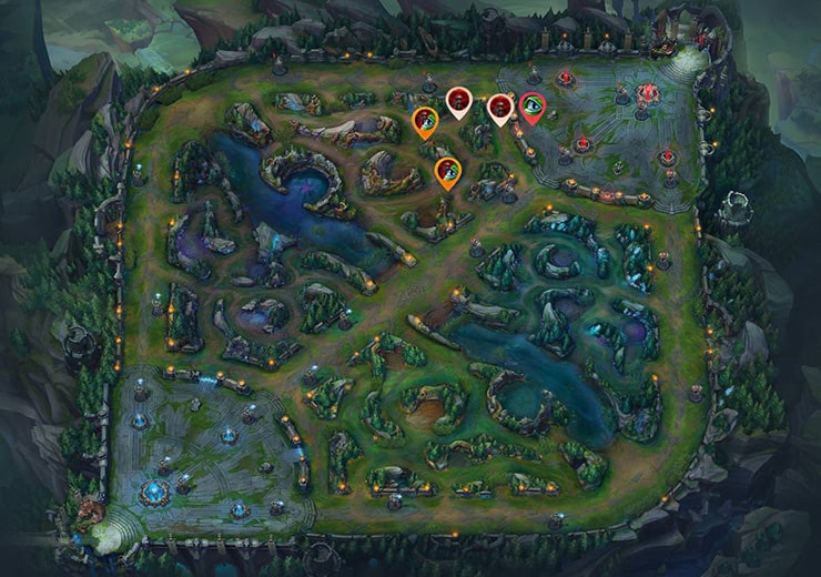 Wards for sieging Top inhibitor as blue team