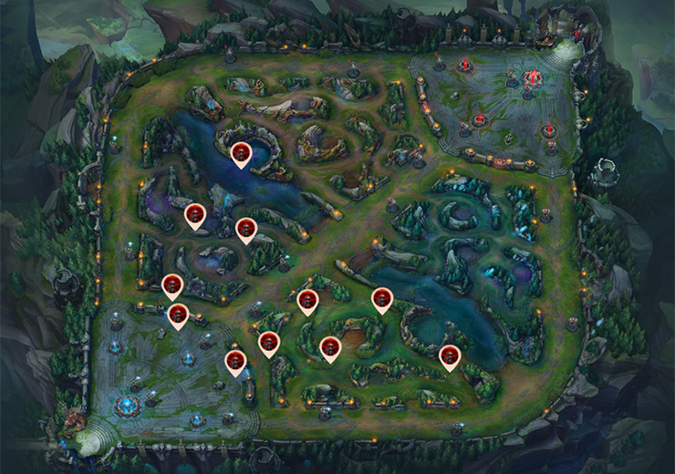 Blue team control wards - very behind