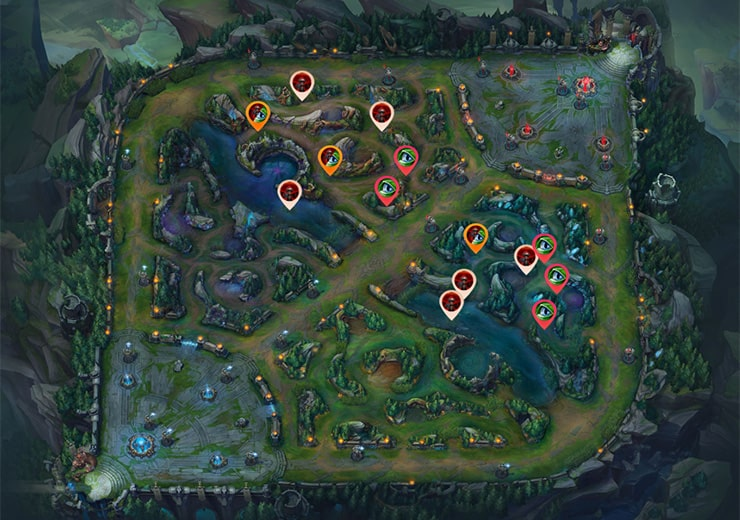 Blue team warding enemy jungle