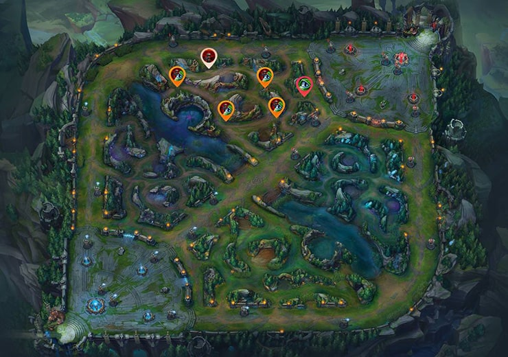 Wards for sieging Top tier 2 turret as blue team