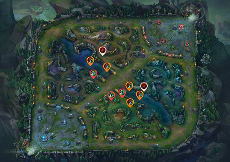 warding red mid lane