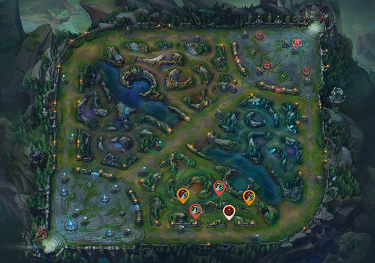 Wards for sieging tier 2 Bot turret as red team