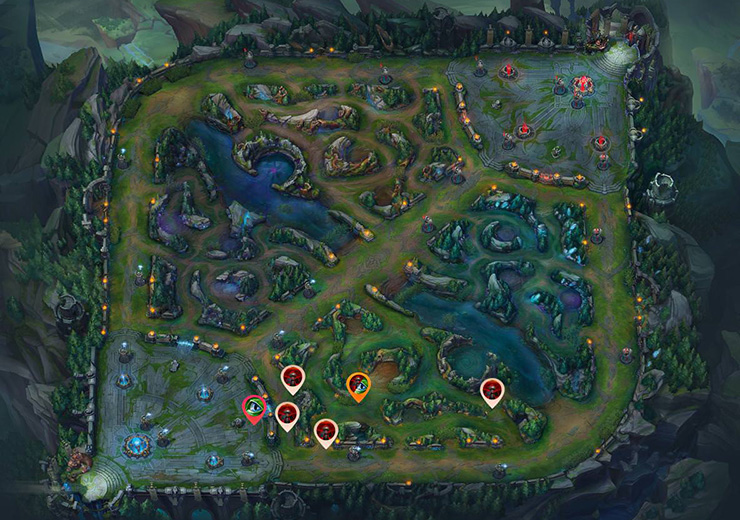 Wards for sieging Bot lane inhibitor as red team