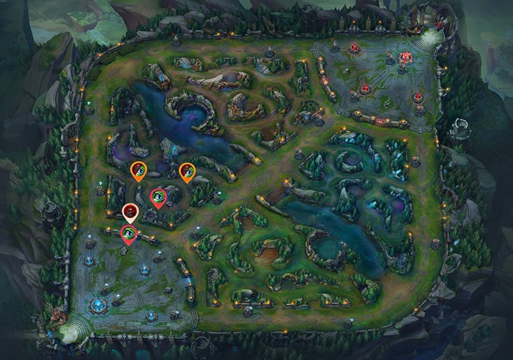 Wards for sieging Top inhibitor as red team