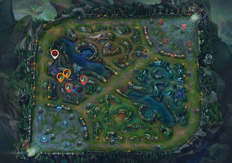 Wards for sieging Top tier turret 2 as red team