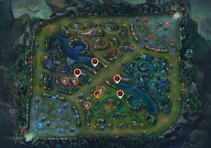 Wards for sieging Mid tier 2 as red team