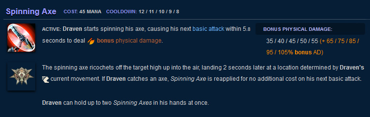 Draven Spinning Axe