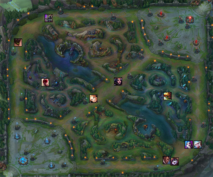 League of Legends role map