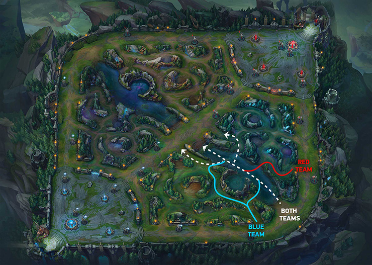 Bot lane roaming route