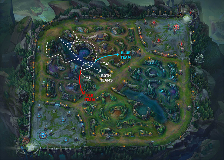 Top lane roaming route