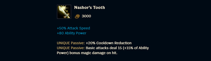 Nashor's Tooth
