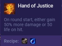 Set 2 Hand of Justice