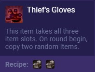 Set 2 Thief's Gloves