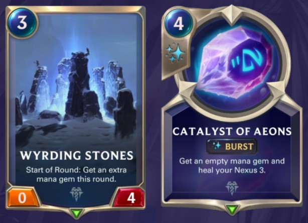 wyrding stones and catalyst of aeons updated