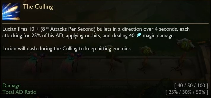 Lucian the culling
