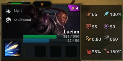 TFT Lucian in game