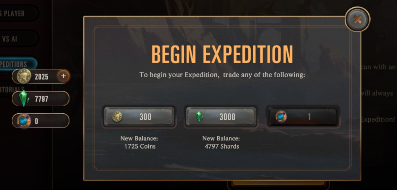 Begin expedition prices