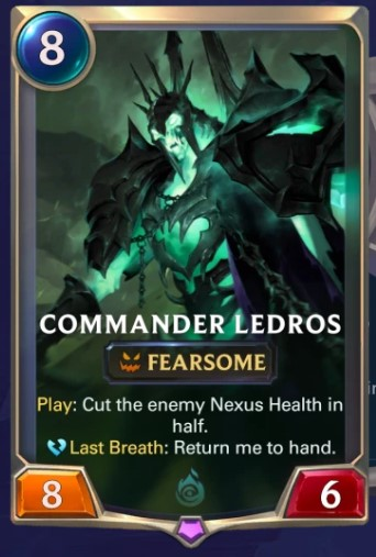 Commander Ledros card