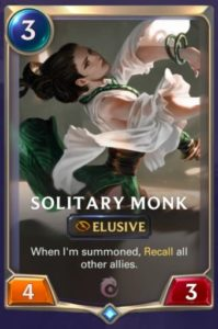 Solitary Monk Card
