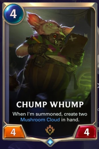 Chump Whump card
