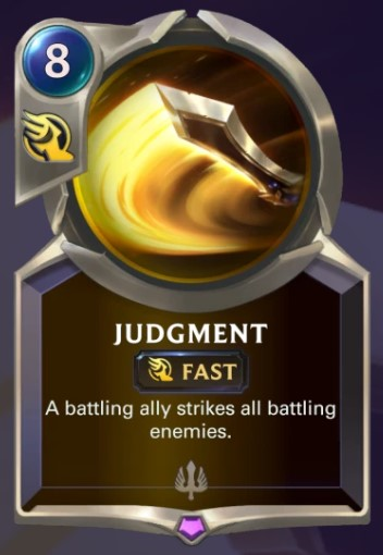 judgement card