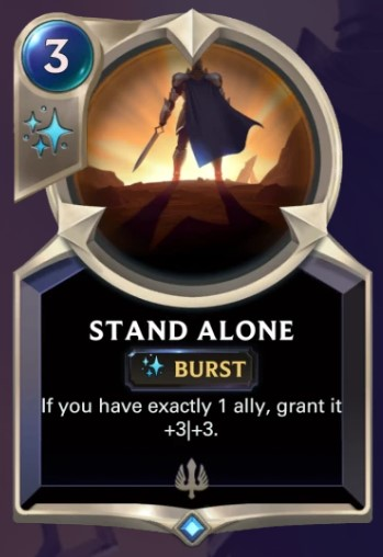 stand alone card