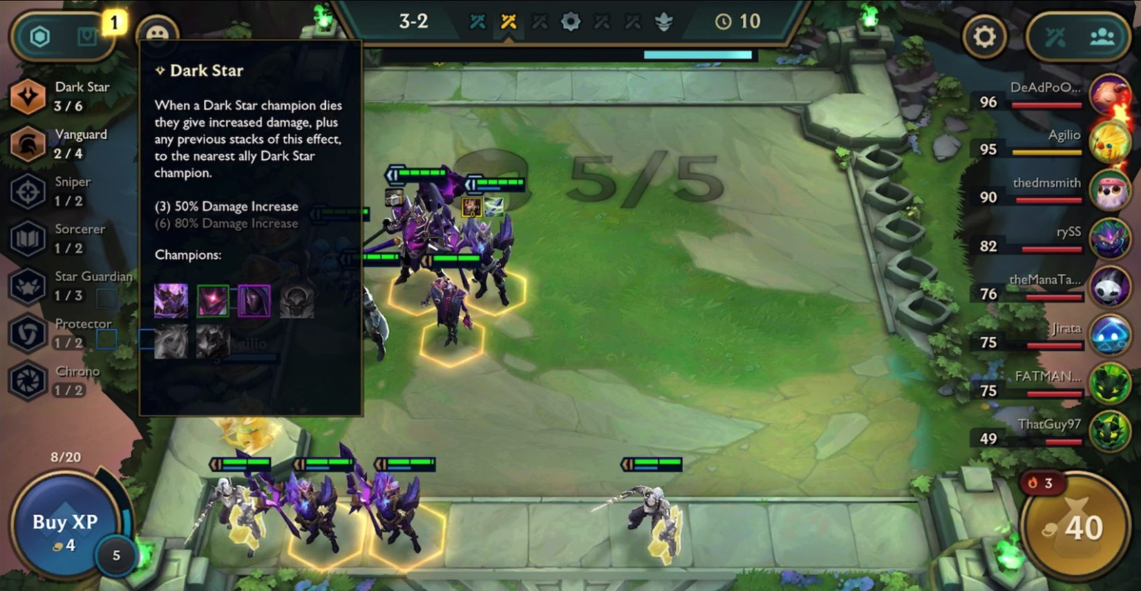tft dark star synergies mobile