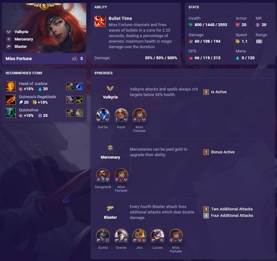 tft set 3 miss fortune