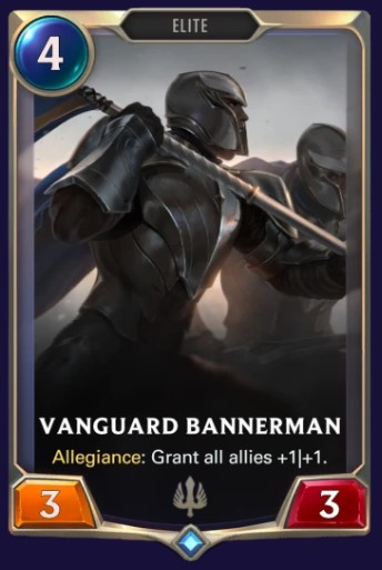 vanguard bannerman card