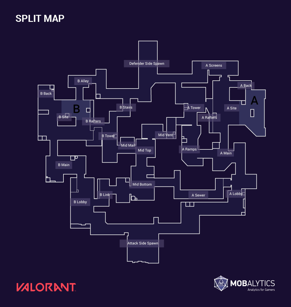 Valorant split maps w/ callouts