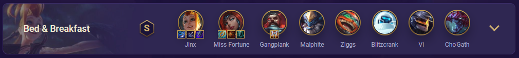 tft bed and breakfast team comp