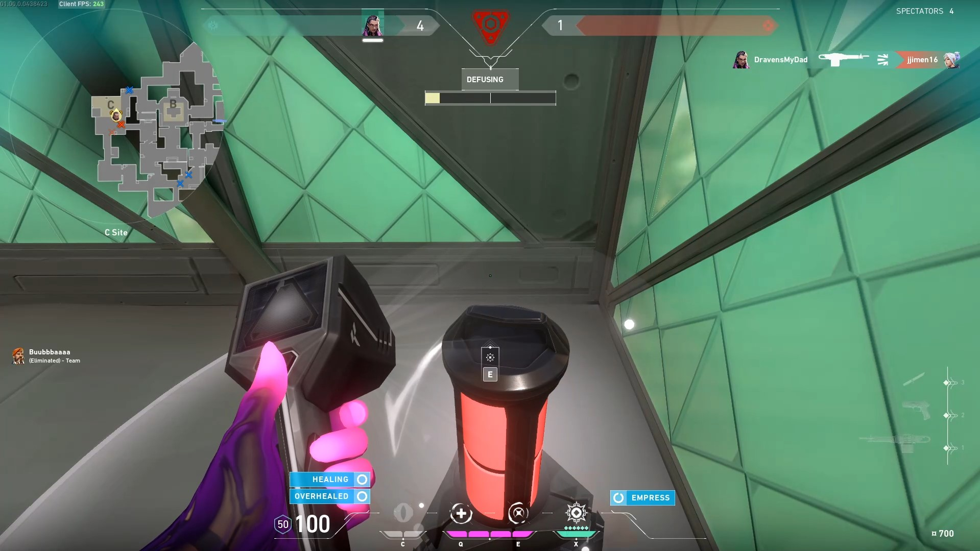 defusing the spike