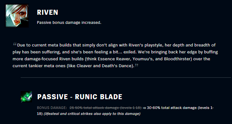 patch 10.14 riven