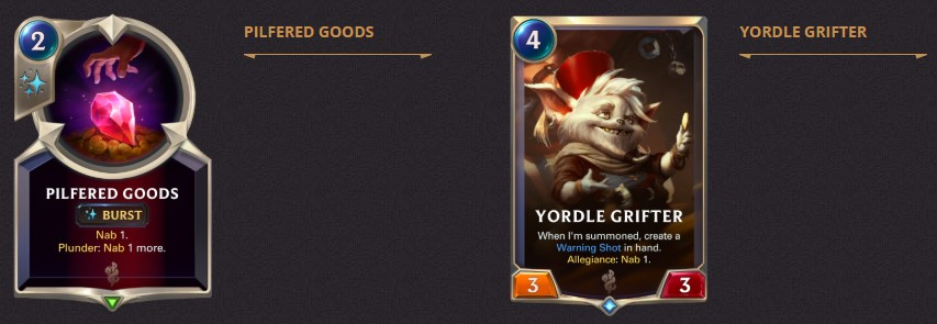 pilfered goods and yordle grifter 1.4