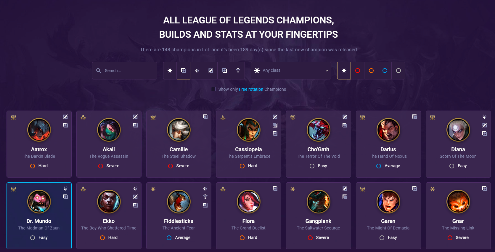 top lane champion pages