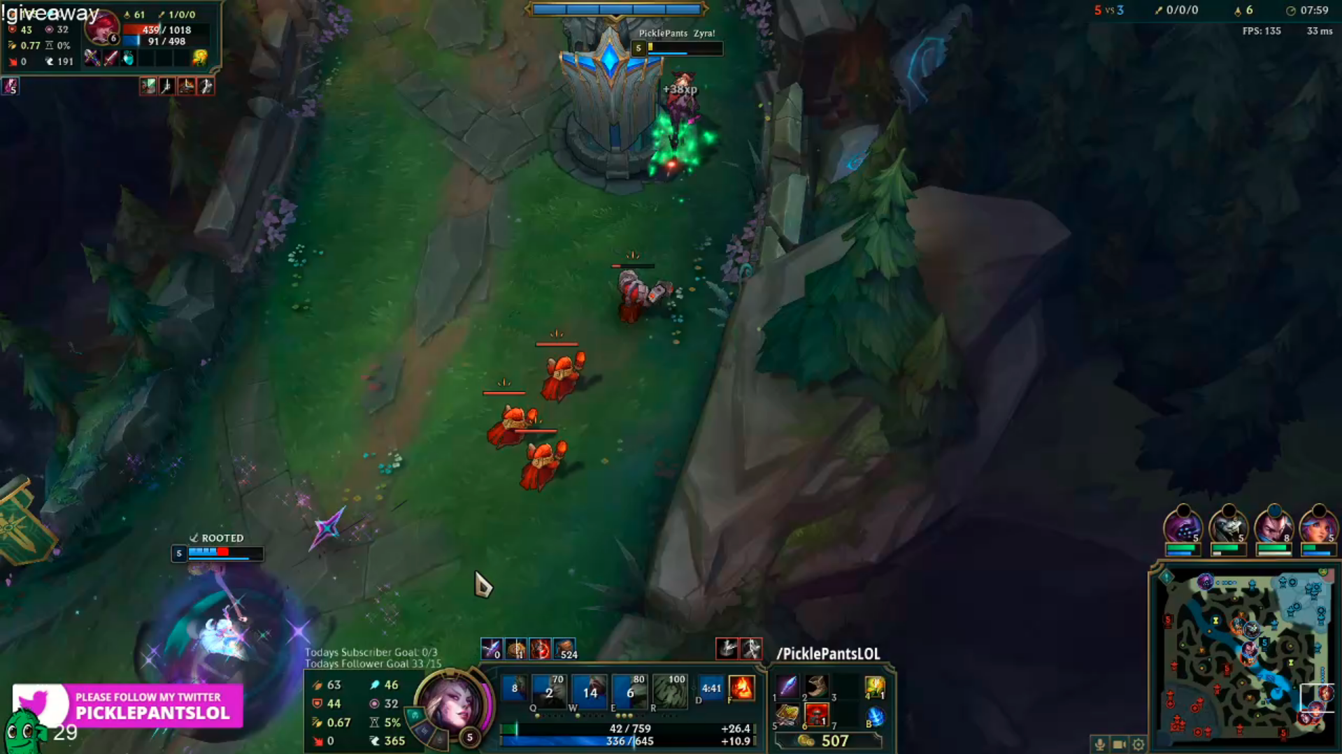 Zyra quest 8 minutes
