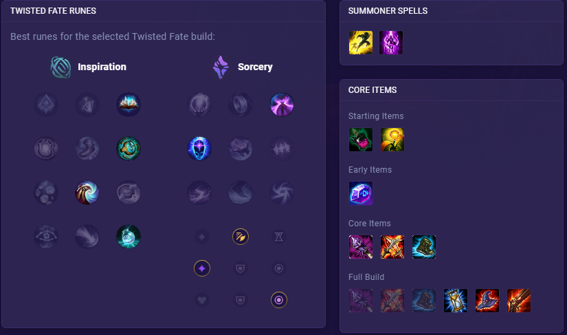 twisted fate runes