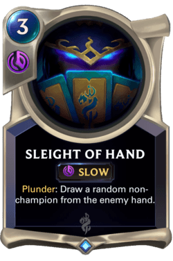sleight of hand card
